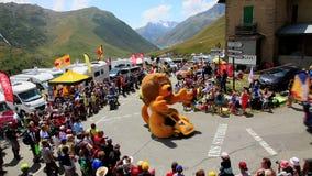 LCL Caravn - Тур-де-Франс 2015 сток-видео