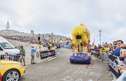 LCL Cyclist Mascot on Mont Ventoux - Tour de France 2013 Stock Images