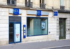 LCL office in Paris. PARIS, FRANCE - MAY 10, 2017 : LCL office in Paris. LCL S.A. is a major French financial services company, with its registered office in Stock Photo