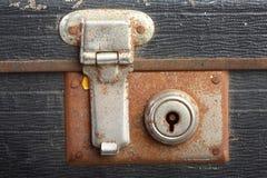 Lcok della valigia dell'annata Immagine Stock