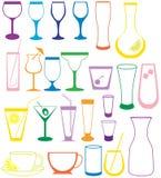 Lcollection del cocktail Immagine Stock Libera da Diritti