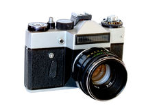 Оld 35mm film camera Stock Image
