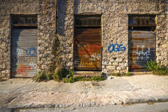 Οld, abandoned workshop Royalty Free Stock Photography