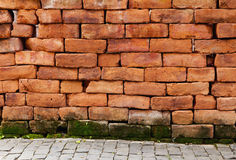 0ld bakstenen muur Stock Fotografie