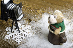 LD-de camera en draagt stuk speelgoed royalty-vrije stock fotografie