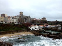 Оld harbour of Biarritz, France Stock Images