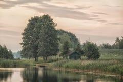 LD jeté par le lac Photographie stock libre de droits
