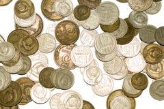 LD-muntstukken van de USSR op een witte achtergrond Royalty-vrije Stock Afbeeldingen