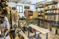 Ld painters shop at Hessenpark from inside in Neu Anspach Stock Image