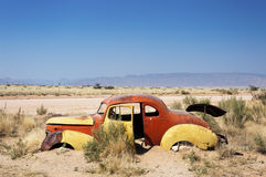 =ld rusty car in Solitaire, Namibia Royalty Free Stock Photography
