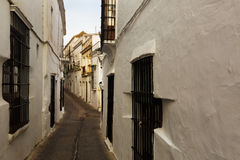 Ld street in european city. Arcos de la Frontera Stock Images