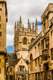 ld street in Oxford with Merton Chapel Royalty Free Stock Photos