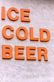 Lód - zimnego piwa znak Zdjęcia Royalty Free