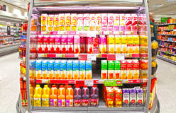 lådafruktfruktsaft Royaltyfri Fotografi