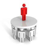 Líder de equipe bem sucedido na parte superior achivement do sucesso comercial Foto de Stock
