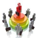 Líder de negócio Competition Fotos de Stock