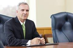 Líder de negócio superior seguro Fotografia de Stock