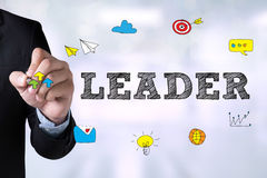 LÍDER (director de Leadership Manager Management del líder) Fotografía de archivo