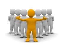 Líder e sua equipe Imagens de Stock Royalty Free