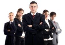 Líder e sua equipe Imagem de Stock Royalty Free