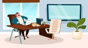 Líder Manager de Boss Office Workplace Businessman del hombre de negocios Fotografía de archivo libre de regalías