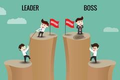 Líder o Boss, plantilla Fotografía de archivo libre de regalías