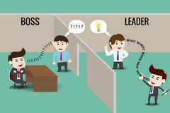 Líder o Boss, plantilla Imagen de archivo libre de regalías