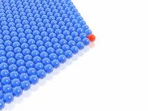Líder vermelho do grupo das esferas Fotos de Stock