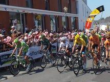 Líderes del Tour de France Fotos de archivo