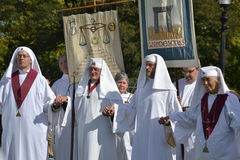 Líderes do Druid, cerimónia de fechamento, equinócio 2 do autum Fotos de Stock Royalty Free