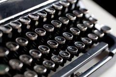 Åldrig skrivmaskinstangent Arkivbild