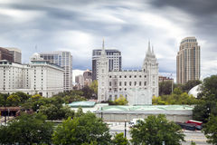 LDS main office building Royalty Free Stock Photo