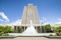 LDS main office building Stock Photo