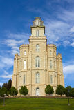 LDS Manti Temple. Manti Utah Temple of The Church of Jesus Christ of Latter-day Saints, built in the 1880's under Brigham Young Royalty Free Stock Images