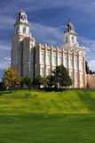 LDS Manti Temple Stock Image