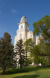 LDS Manti Utah Temple. Manti Utah Temple of The Church of Jesus Christ of Latter-day Saints, built in the 1800's under Brigham Young Stock Images