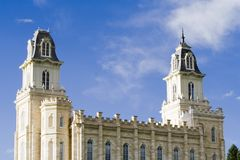 LDS Manti Utah Temple � South. LDS Mormon temple in Manti Utah Stock Image
