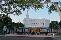 LDS Mormon Temple St. George, UT Royalty Free Stock Photos