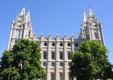 LDS mormonischer Tempel Stockfotografie