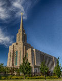 LDS Oquirrh Temple HDR Royalty Free Stock Photo