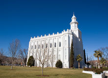LDS St George Temple Royalty Free Stock Photography