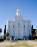 LDS St George Temple Stock Photo