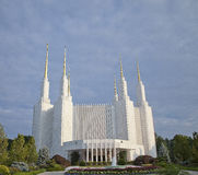 LDS Tempel--Washington, Gleichstrom lizenzfreie stockfotos