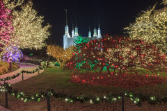 LDS Temple Festival of Lights Stock Photos
