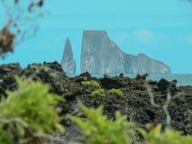 Leà ³ n Dormido - kopacz skała Galapagos wyspa, Ekwador Obrazy Royalty Free