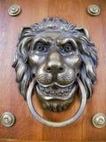 Leão - aldrava Foto de Stock Royalty Free