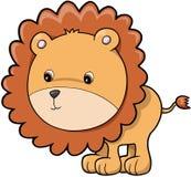 Leão bonito do safari ilustração do vetor