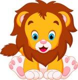 Leão bonito dos bebês ilustração do vetor