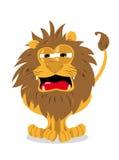 Leão bonito e um sinal em branco ilustração royalty free