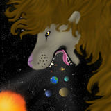 Leão cósmico Fotografia de Stock Royalty Free